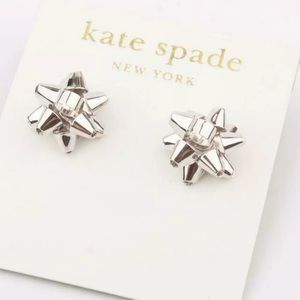 NWT ♠️Kate Spade Bourgeois bow silver earrings ♠️